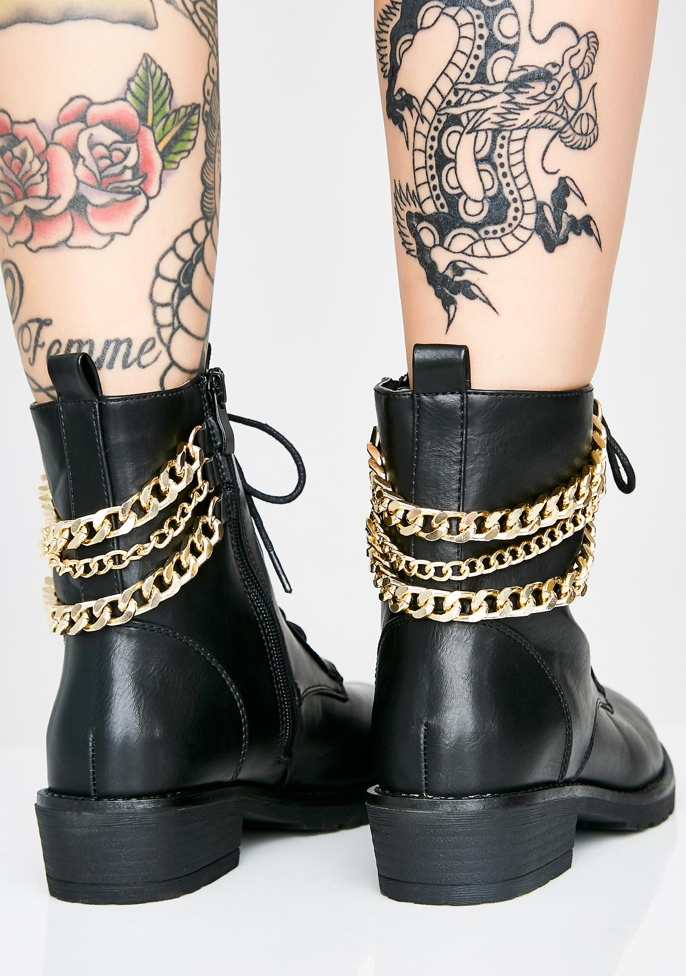 Drippin' In Chains Combat Boots