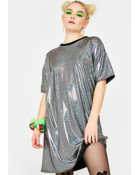 Disco Ball Metallic Dress