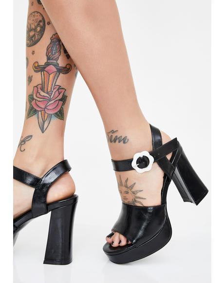 Daisy Delusion Platform Heels