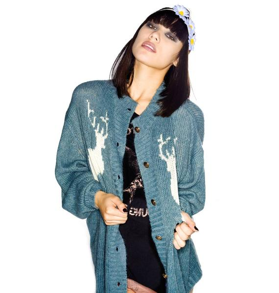 Wildfox Couture Cabin Girl Midnight Cowboy Cardigan