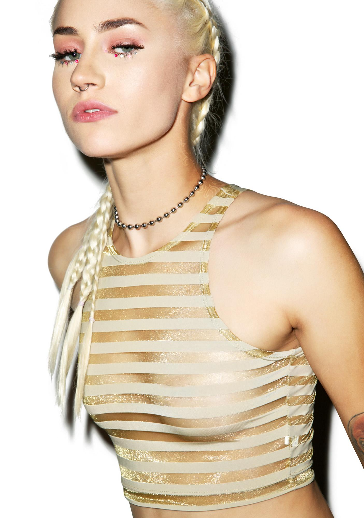 This Is A Love Song Midas Touch Crop Top