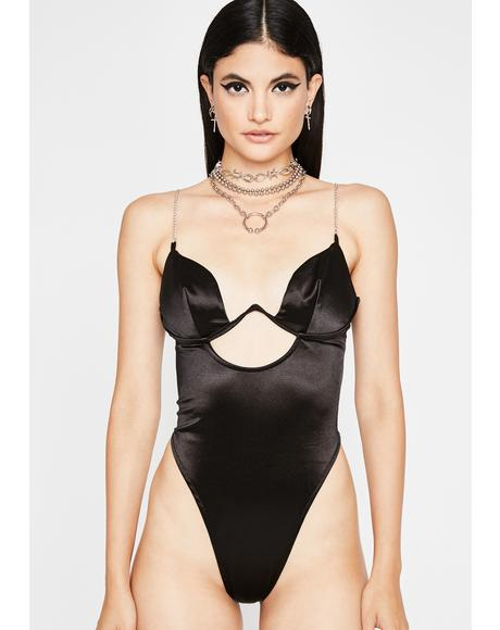 Thot Attack Satin Bodysuit