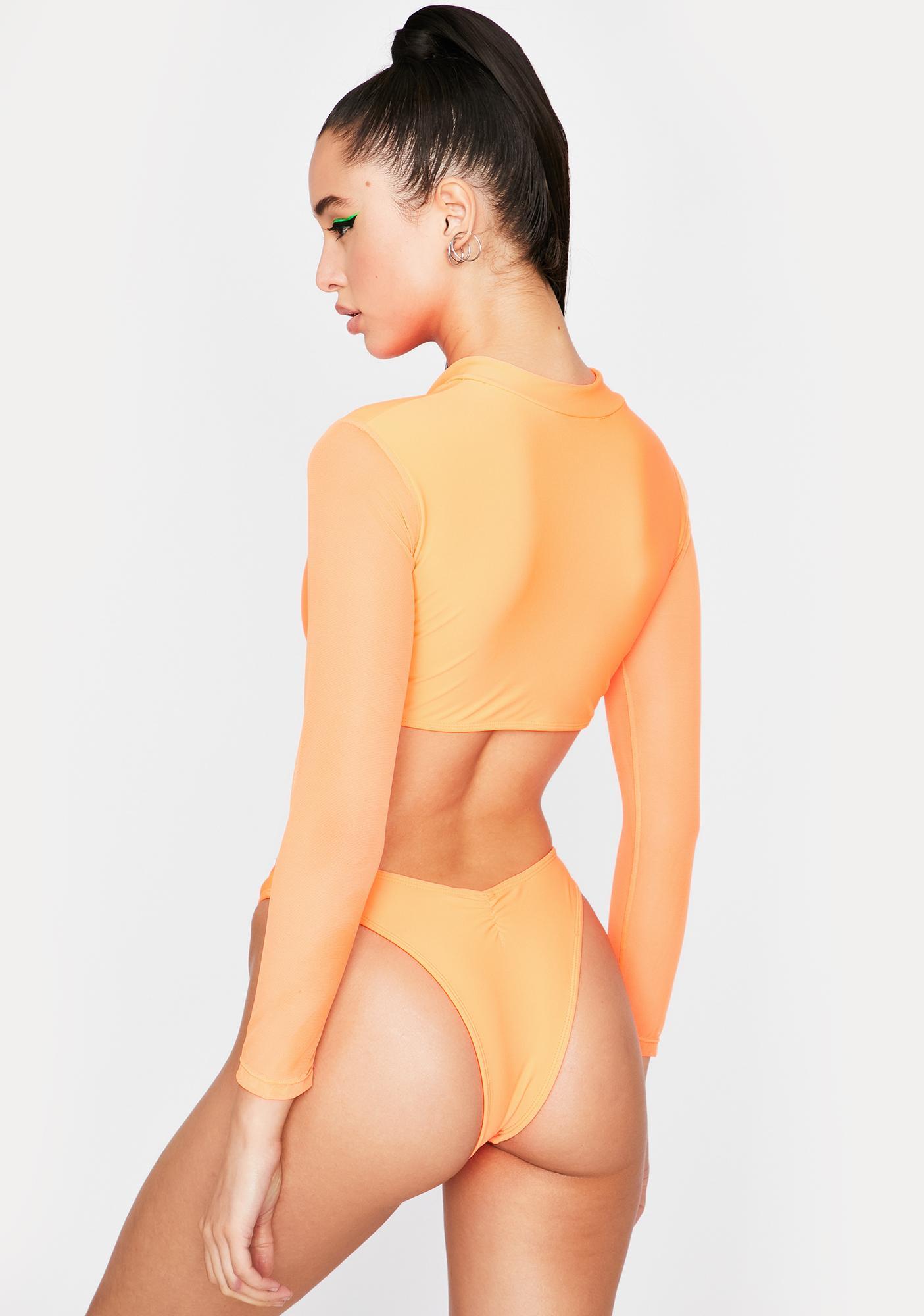 Amber Takin' Off Long Sleeve Bikini Set