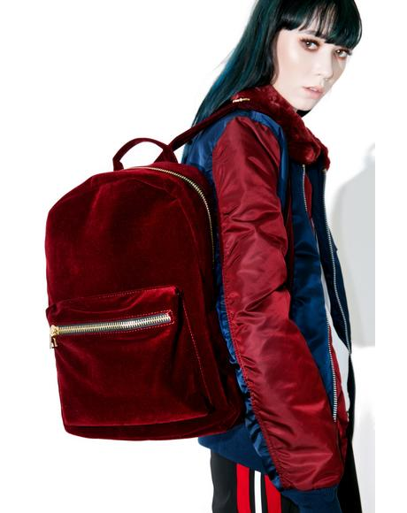 Blood Moon Velvet Backpack