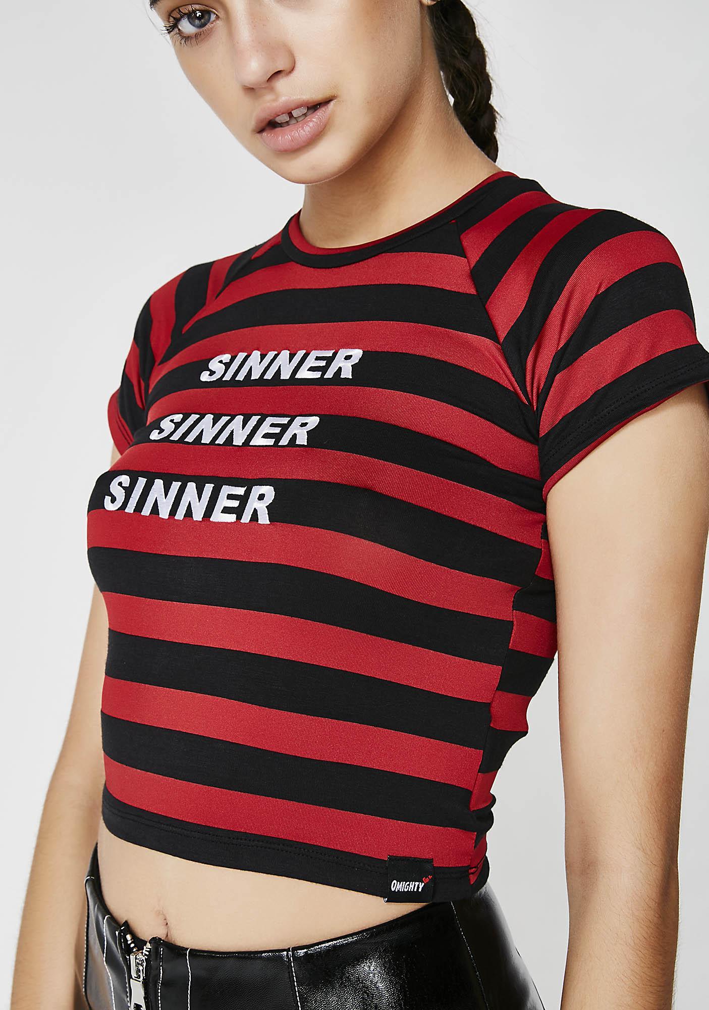 O Mighty Sinner Crop Tee
