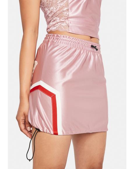 Pink Sport Mini Skirt