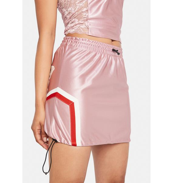 GRIMEY Pink Sport Mini Skirt