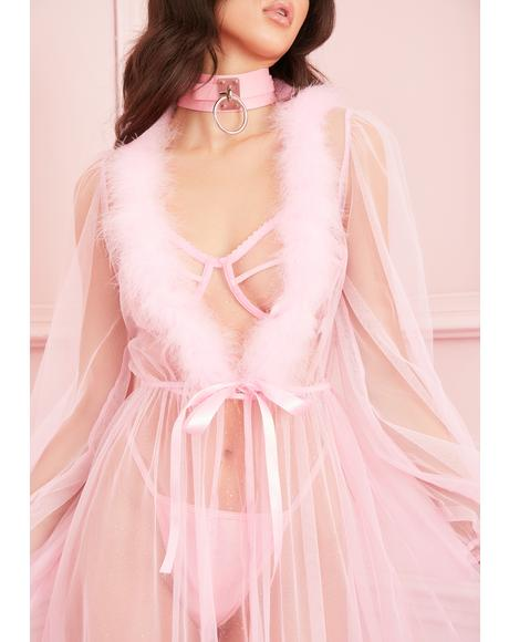 Sugar Coated Crush Marabou Robe