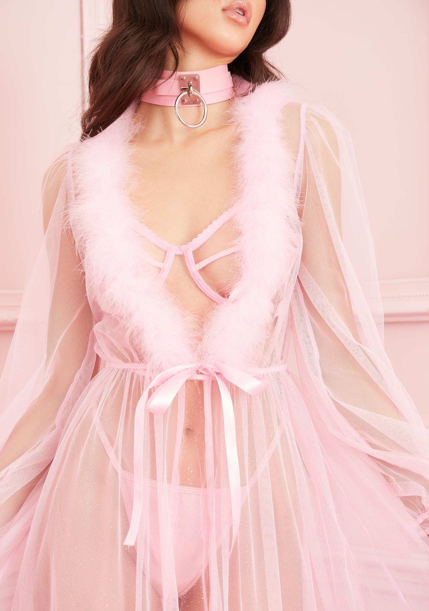 Sugar Thrillz Sugar Coated Crush Marabou Robe
