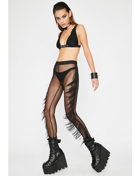 Fringe Fantasy Sheer Leggings