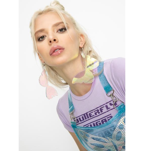 Marina Fini Iridescent Tribal Butterfly Earrings