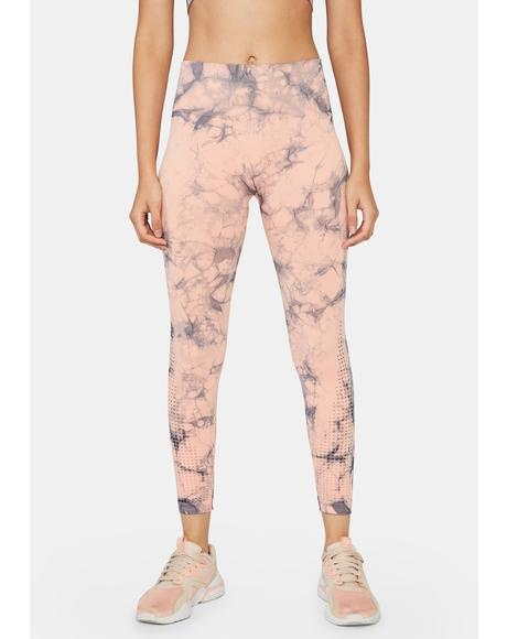 Koi Pressure Zone Tie Dye Seamless Leggings