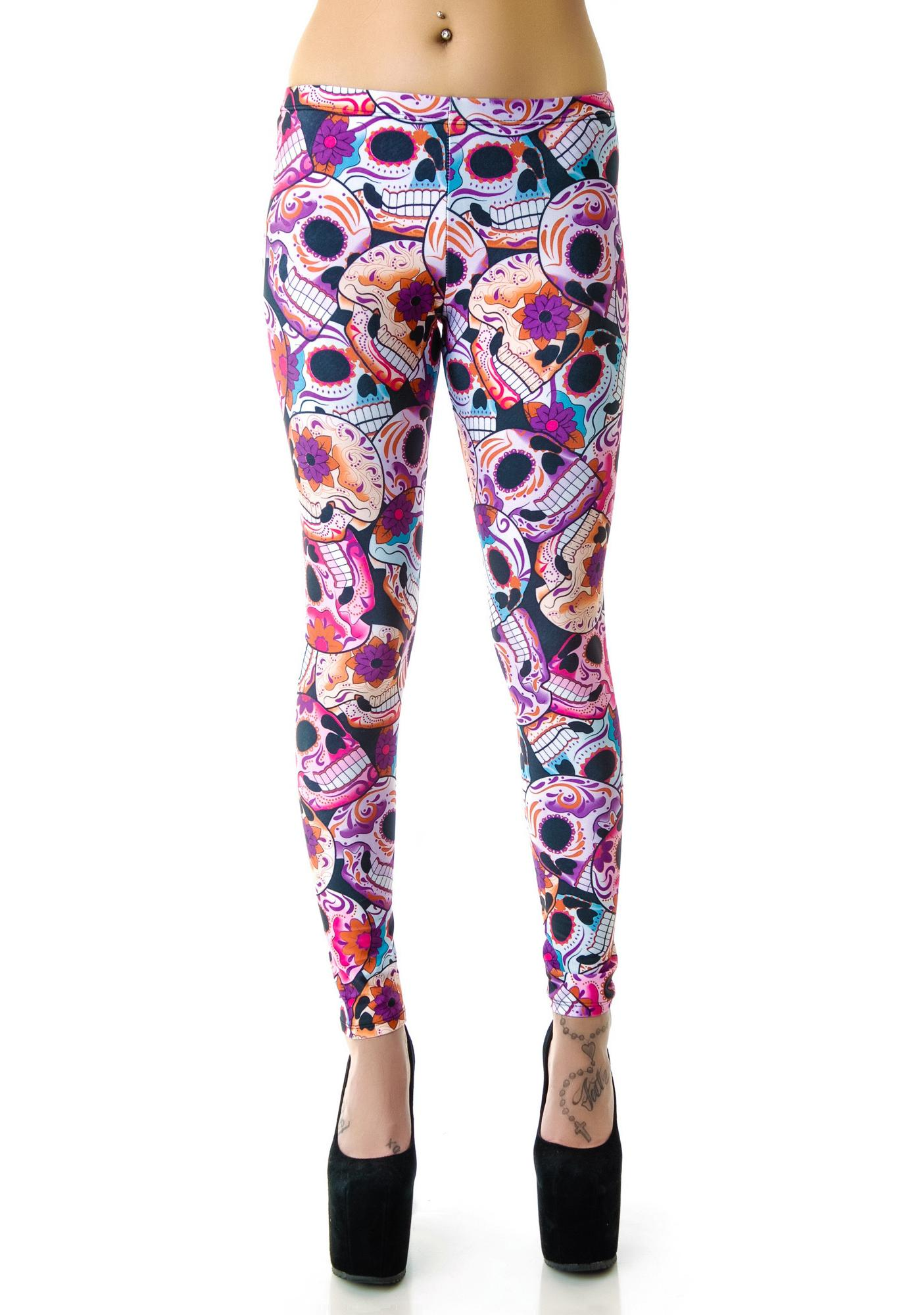 59c9d6b1a5b1b2 Zara Terez Day of the Dead Leggings | Dolls Kill
