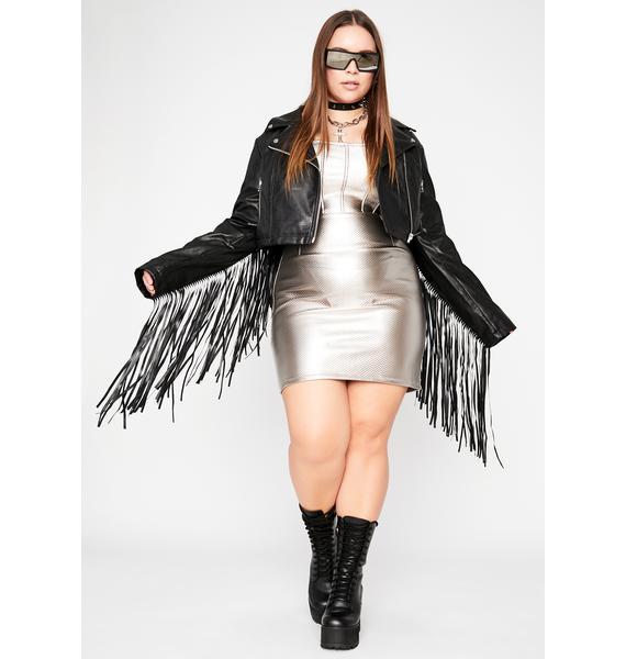 Slate Wild Wicked Winds Corset Dress