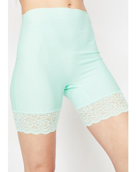 Mint Romantic Heat Biker Shorts