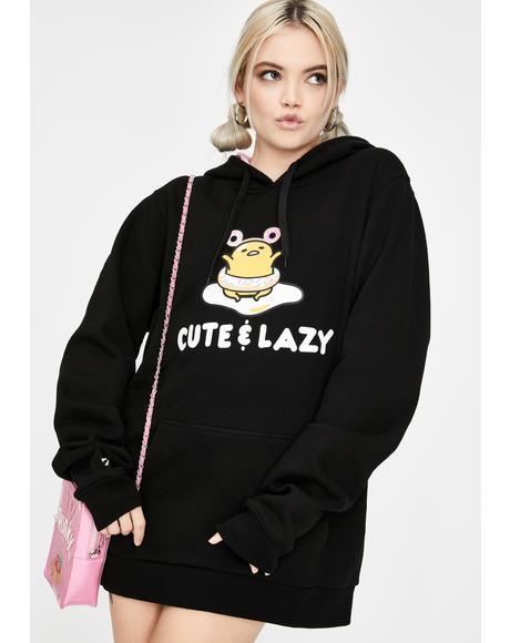 Cute N' Lazy Gudetama Graphic Hoodie