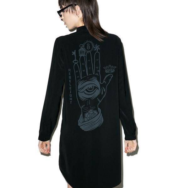 Rebel8 Conspiracy Shirt Dress