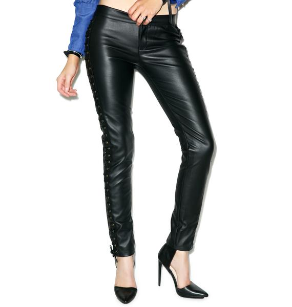 Nightwalker Tie Me Up Leather Pants