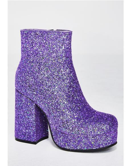 Keep Ya Sparkle Glitter Boots