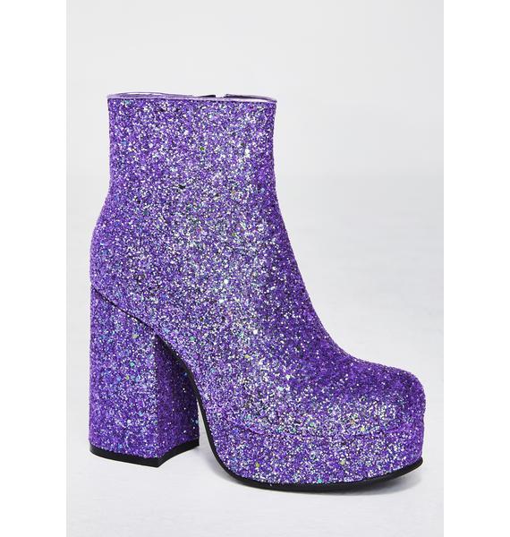 Current Mood Keep Ya Sparkle Glitter Boots