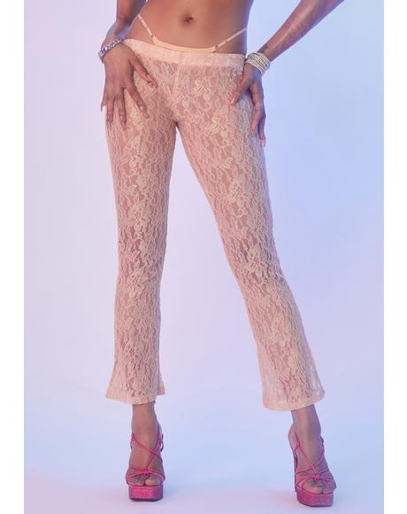 Widow's Peek Lace Pants