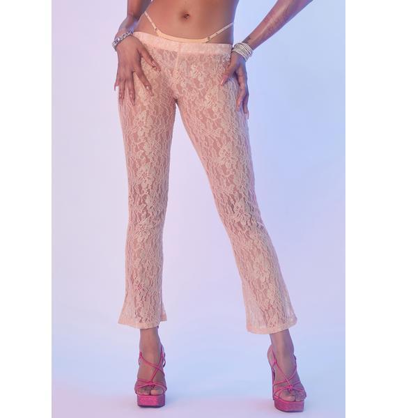 Dolls Kill x Yung Reaper Widow's Peek Lace Pants