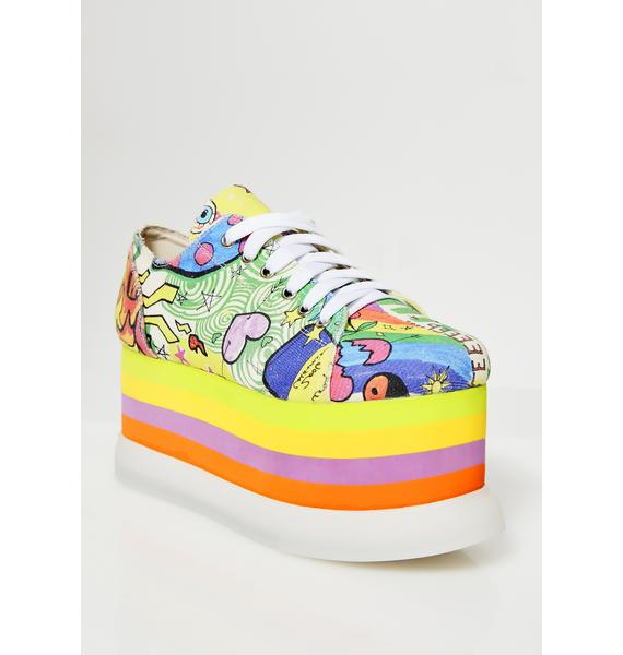 Current Mood Distort Ur Reality Light Up Sneakers