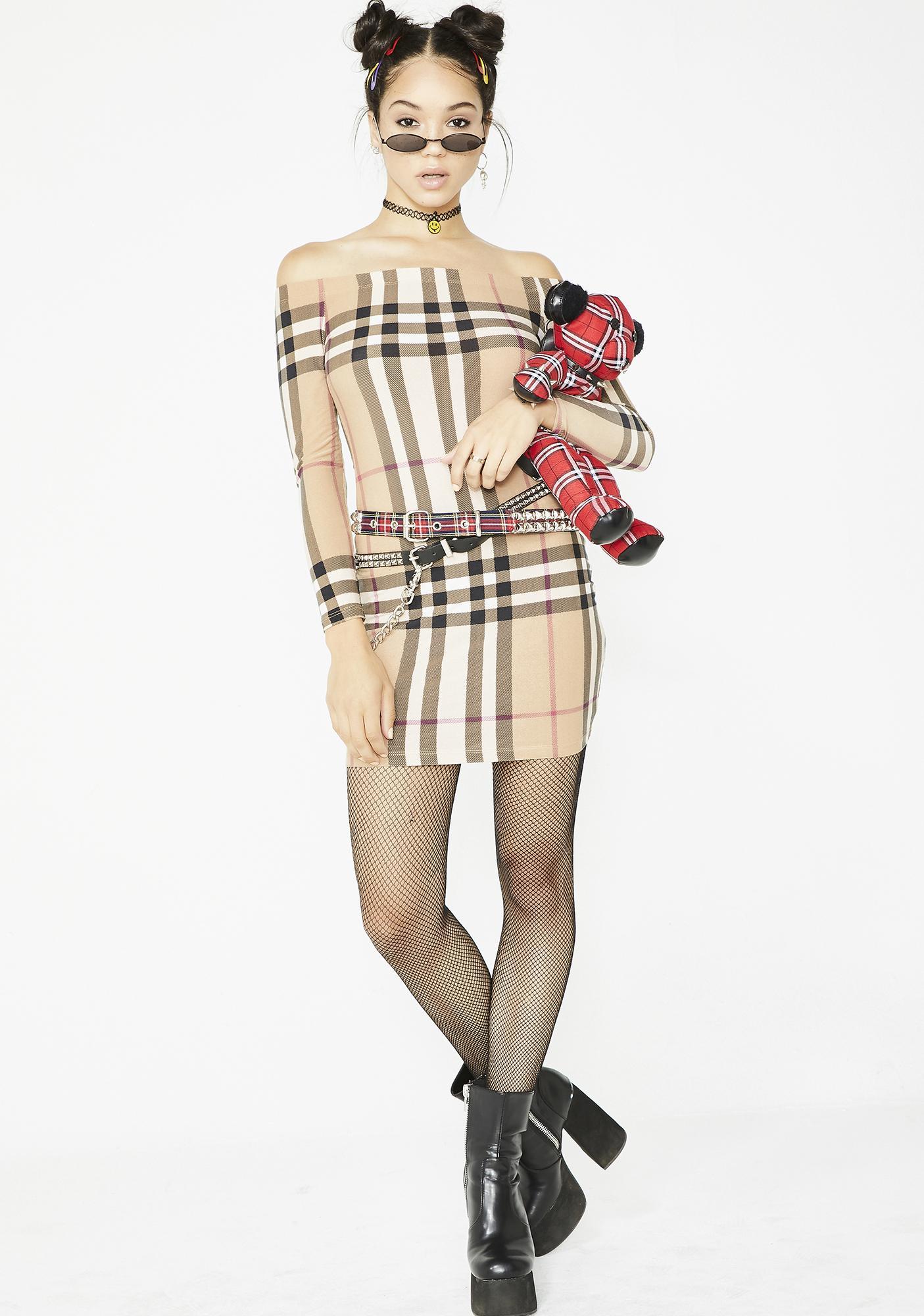 All You Need Plaid Dress