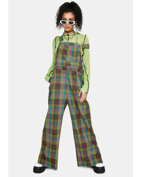 Psyche Multi Check Dungaree