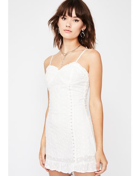 Gone To Paradise Eyelet Dress