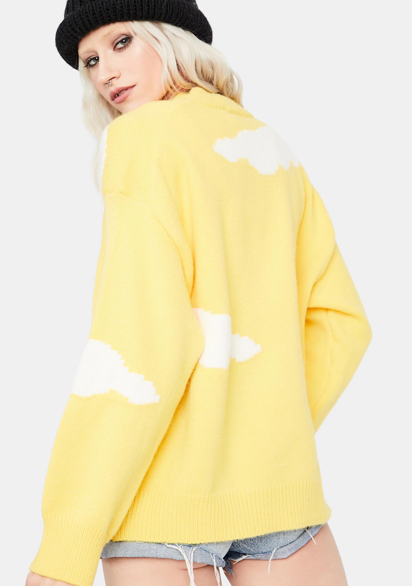 Honey When It Rains Cloud Knit Sweater