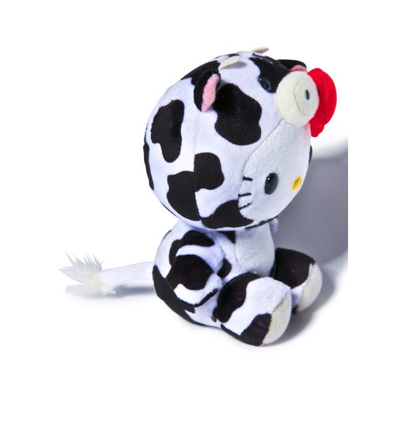 Sanrio Farm Friends Hello Kitty Cow Plush