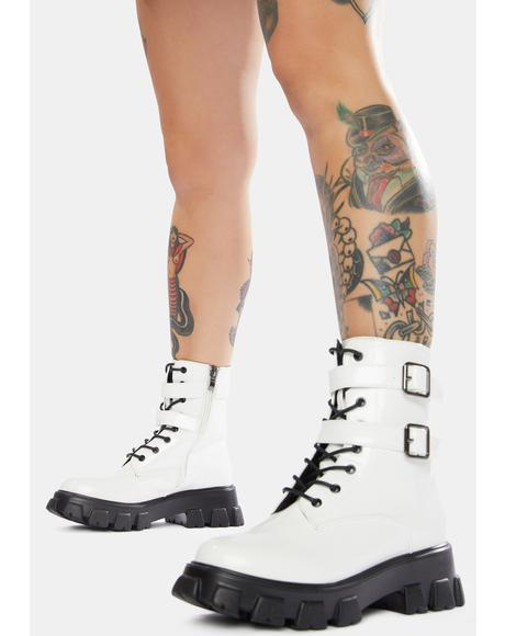 Chill Taking Aim Buckle Combat Boots