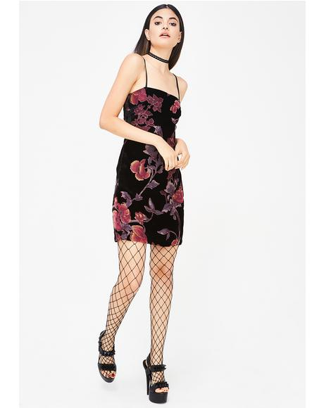 Bloom Craze Velvet Dress
