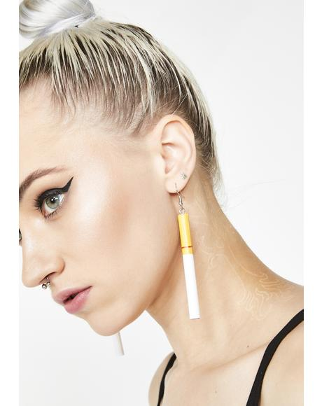 Puff Daddie Cigarette Earrings