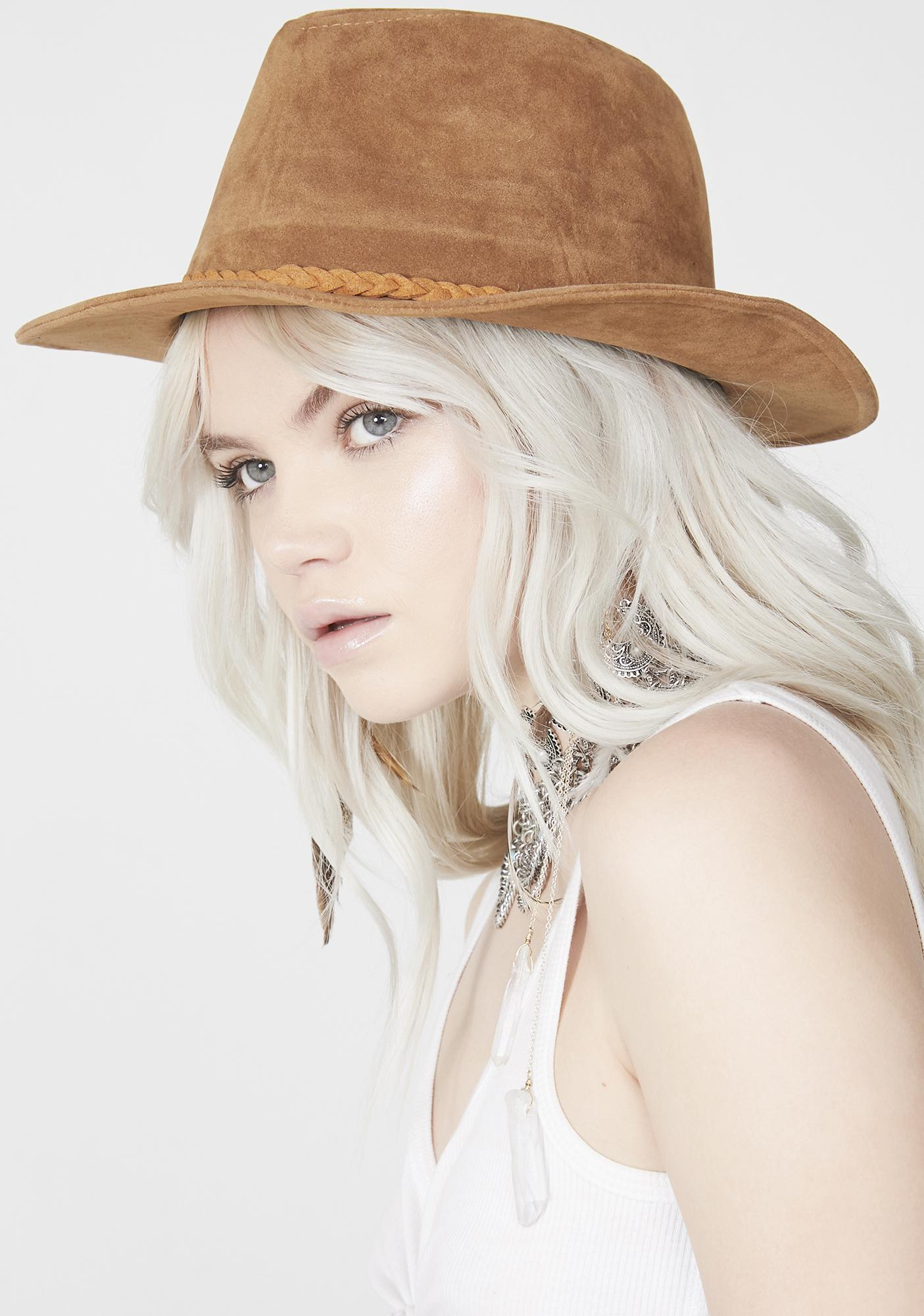 Cowgirl Up Suede Hat