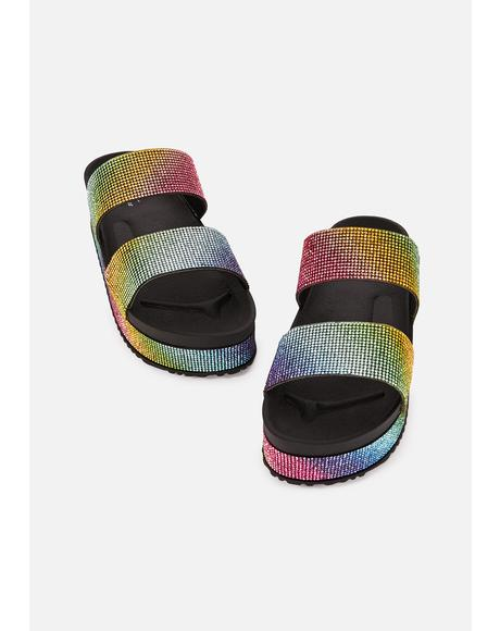 Glam Glide Rhinestone Sandals