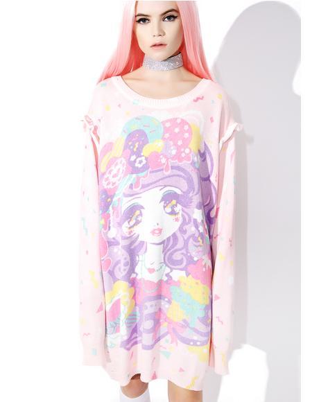 Miss Kika Sweet Confetti Sparkle Sweater