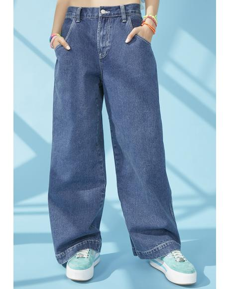 Hang Loose Wide Leg Jeans