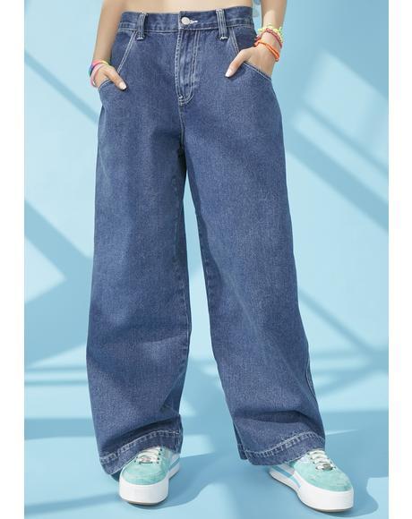 Hang Loose Wide Leg Jeans