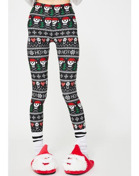 Ho Ho Ho Christmas Sweater Leggings