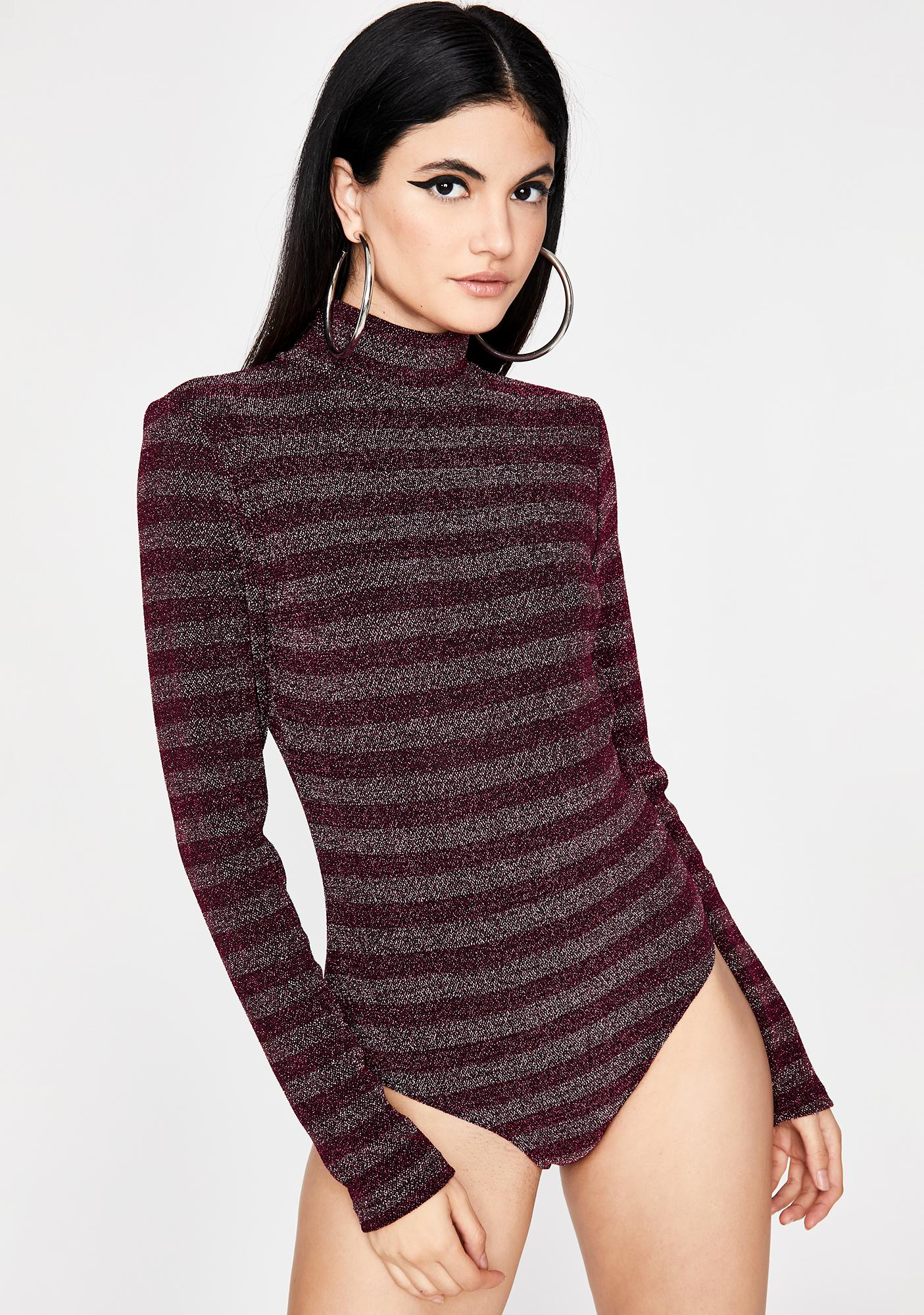 Pinot Not Your Girl Striped Bodysuit