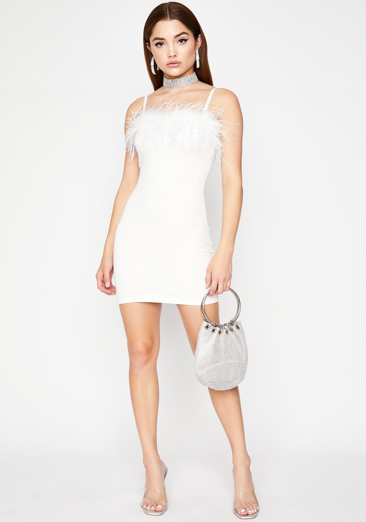 Invitation Only Marabou Dress