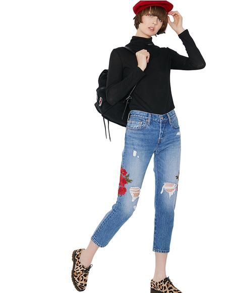 Cropped Taper Jeans