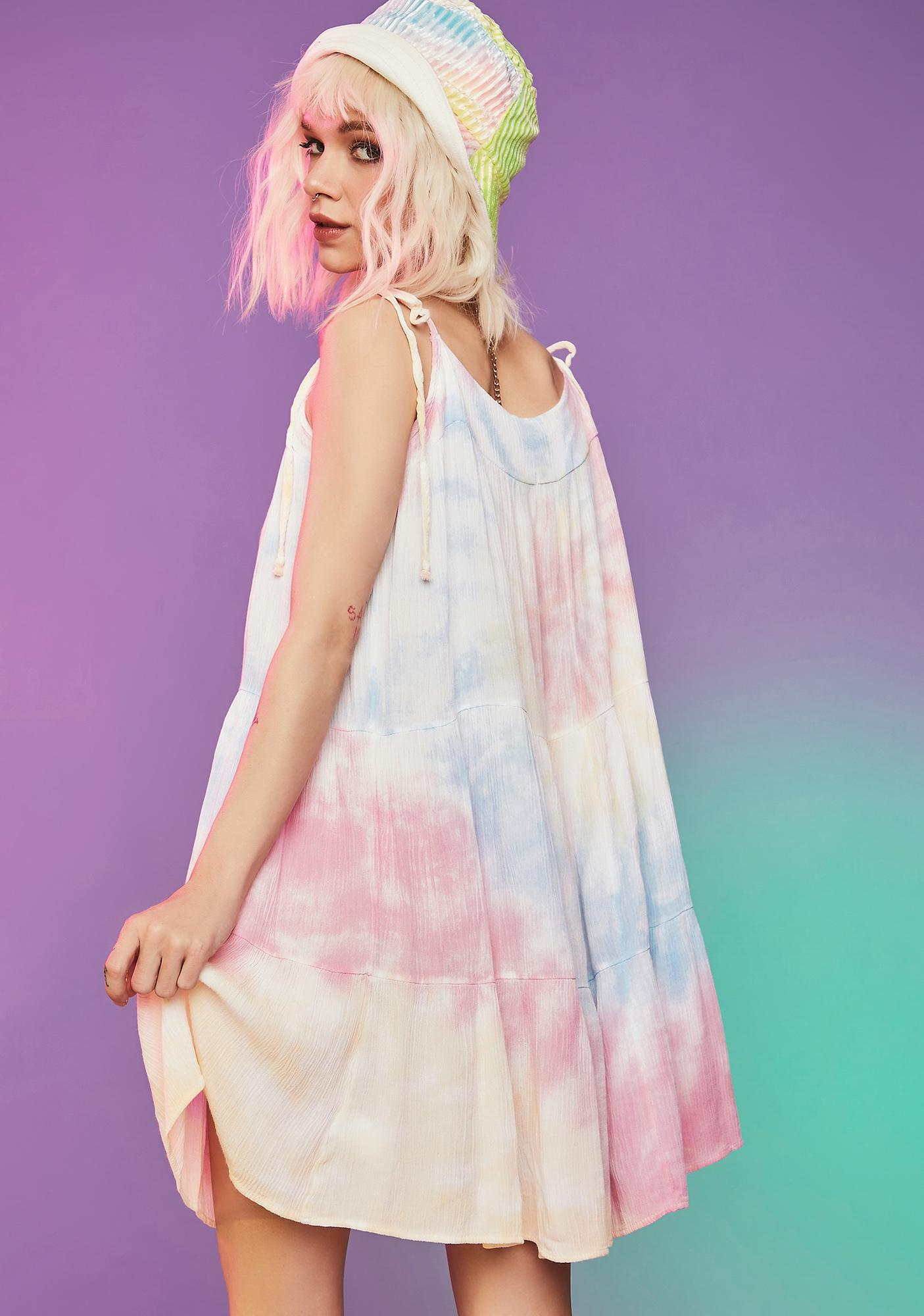 Name Of The Game Tie Dye Swing Dress