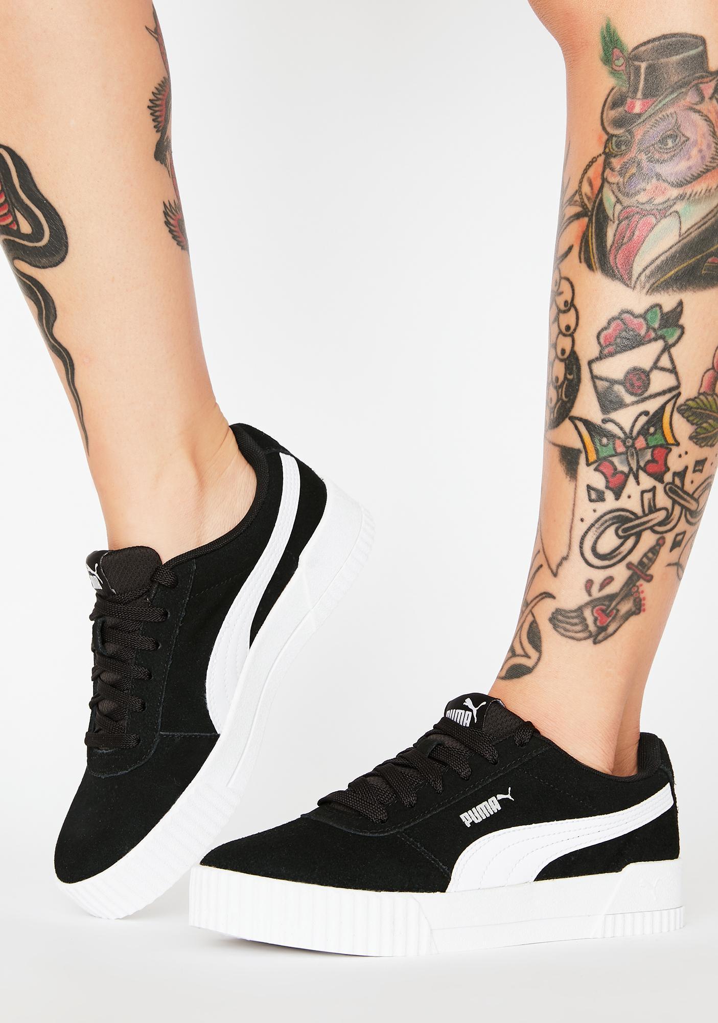PUMA Black Carina Classic Sneakers