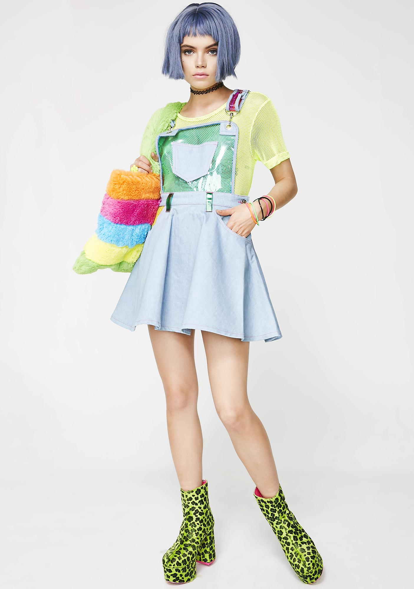 Current Mood Chasin' Rainbows Overall Dress