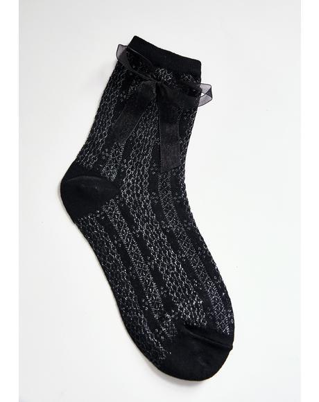 Pretty Present Knit Socks