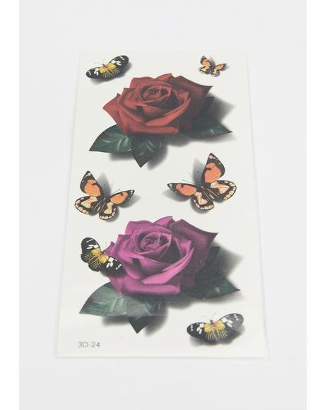 Butterfly Grove Temporary Tattoos