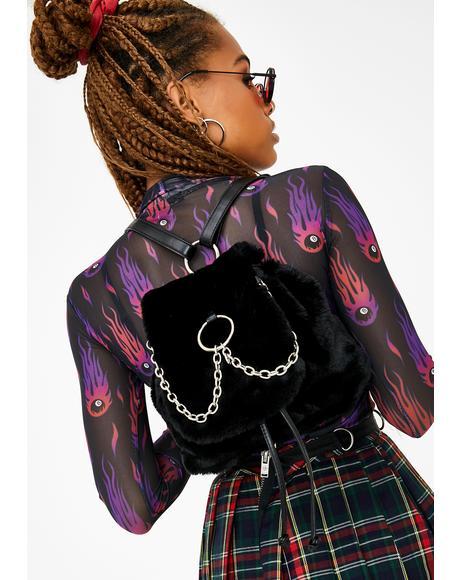 No Recess Faux Fur Backpack